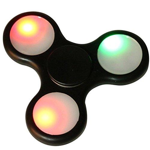 Fidget Spinner Switchali LED Ligero Hand Spinner Fidget Juguete Anti Ansiedad para Niños y Jóvenes Adultos Juguete Educación Juguetes de Aprendizaje - Juego Sensorial Hand Spinner en Oferta (Negro)