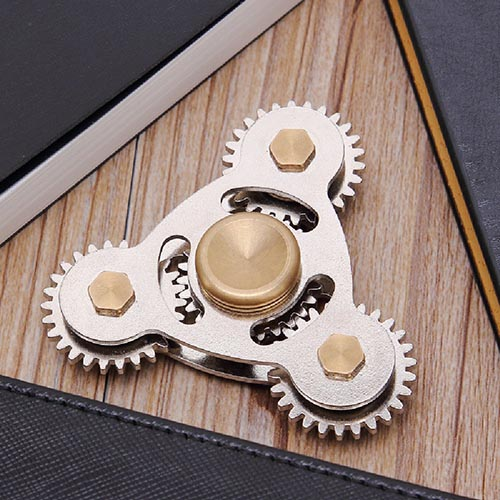 spinner steampunk con engranajes