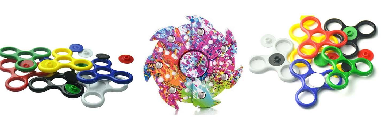 Spinners de plástico