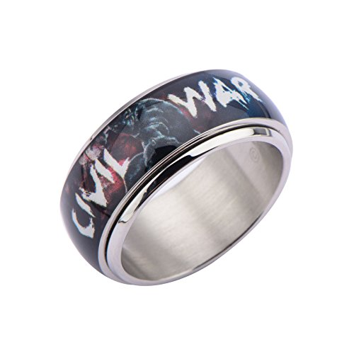 Anillo Spinner Civil wartm Captain America Iron Man (US 9 = 60 fr)