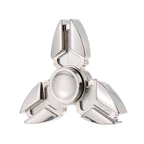 Anself - Triángulo Fidget Finger Spinner de Metal,R188 Acero Inoxidable Cojinete, Juguete de Anti-ansiedad Anti-estrés Entrenamiento del Equilibrio Atenciones