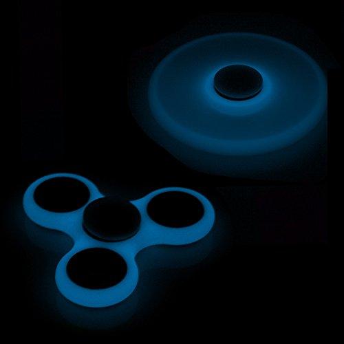 DAM Destresspinner Glow in the Dark Hand Spinner para adultos o niños- Giro alta velocidad - Larga Duración - Juego sensorial (16BLUE)