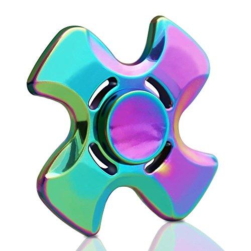 DELICACY Quad Fidget Spinner Juguete,Mano Ansiedad Fingiendo Fidget Spinner Toy,El Reductor de Estrés Alivia el Juguete EDC Focus Hand Spinner para Niños y Adultos