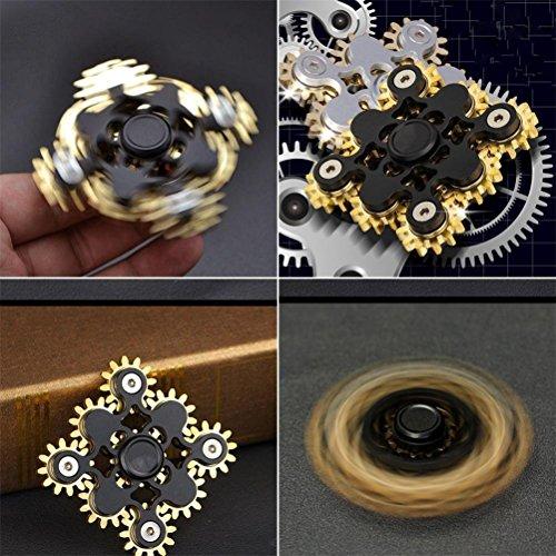 edc 9Gear manos Spinner juguete Metal resistente con alta velocidad de suave alivio de estrés adultos niños, oficina de escritorio Gadget–precio Xes, 9 gear, negro, 1