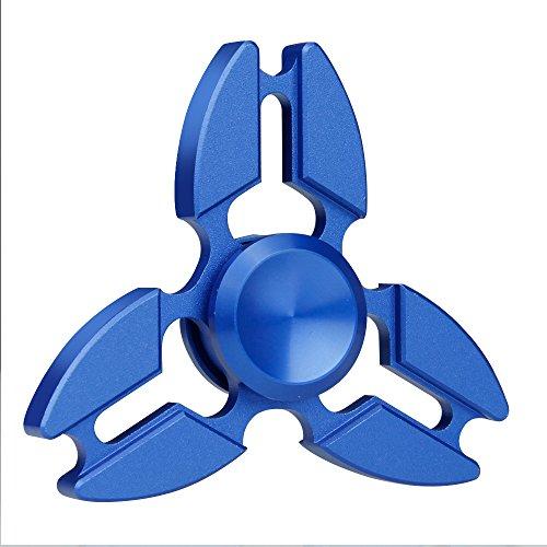 el juguete en mano , Vitutech Tri-Spinner Toys Ultra Rápido Rodamientos Juguete el juguete en mano para Adultos - ( Azul )