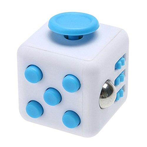 Enjoy Juyi Fidget cubo Alivia el estrés y ansiedad para niños y adultos, azul