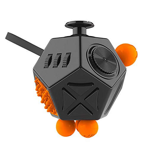 Fidget Cube Actualizado 12-lado Toy Ansiedad Estrés Atención Alivio Rompecabezas Adulto Niño (Fidget Cube)