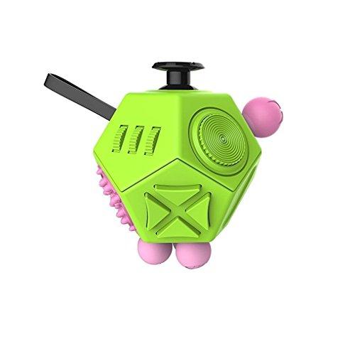 Fidget Cube escritorio juguete con 12 diferentes lados para aliviar la ansiedad de estrés para niños adultos Niños