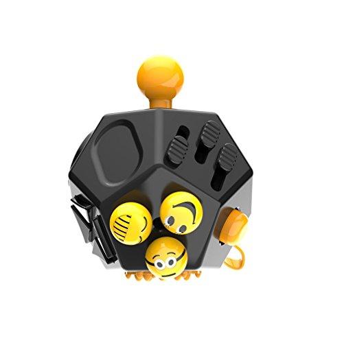 Fidget cubo II Juguete de regalo ansiedad estrés Alivio para adultos juguetes de regalo, negro