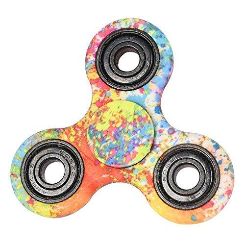 Fidget Hand Spinner, juguete del dedo, el spinner anti-ansiedad 360, reductor de la tensión, juguete de alta velocidad del dedo de Fidget - perfecto para ADD / ADHD / ansiedad / autismo y alivio de tensión Niños adultos(Vistoso)