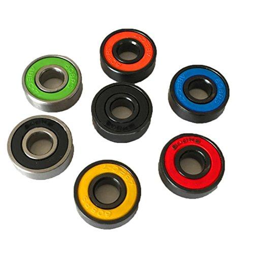 Fidget Spinner, Rcool 3PCS 608 híbridos rodamientos de bolas para Tri-Spinner Hand Spinner EDC juguete Fidget (Multicolor)