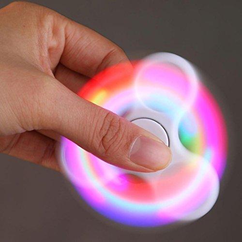 Fidget Spinner Switchali LED Ligero Hand Spinner Fidget Juguete Anti Ansiedad para Niños y Jóvenes Adultos Juguete Educación Juguetes de Aprendizaje - Juego Sensorial Hand Spinner en Oferta (Blanco)