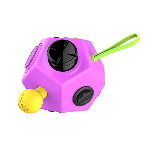 GGG Niños Adultos Fidget Cubo Descompresión Magic Cube 12- Lados Magic Fidget Cubo Novedad juguete Nuevo color morado