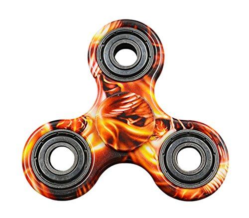 Hand Spinner Toy, Stillshine Multicolor Camouflage Fidget Tri-Spinner juguete de estrés y alivio de ansiedad, el TDAH Autismo (Rojo)