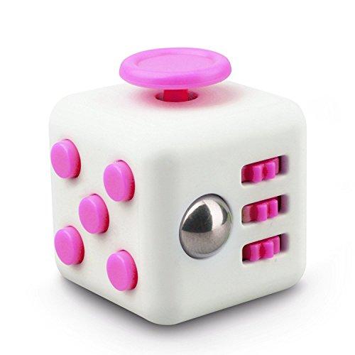 HORIZONTAL Cubo inquieto para los adultos y los niños de Ansiedad Atención alivia el estrés, la ansiedad estrés de liberación de juguete (ROSA)