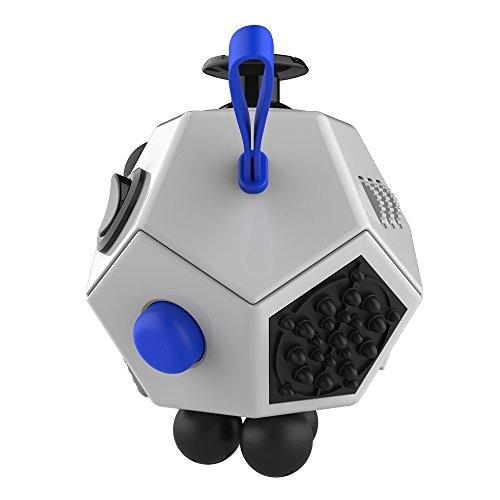 HuntGold niños adultos de descompresión cubo mágico 12 Lados magia de la persona agitada Cubo juguete -- Blanco