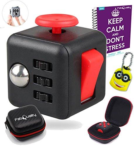 Molestar Cube ansiedad atención Toy con bonificación caso eBook (en inglés) Incluido: alivia el estrés y la ansiedad y relajarse para niños y adultos