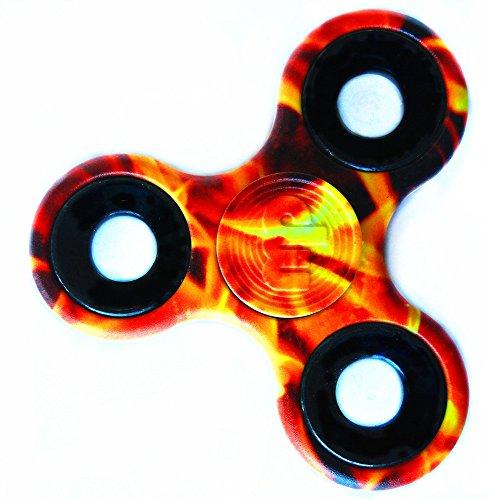 MUPATER Fidget Toys Hand Spinner, EDC Spinner Fidget Juguete, Reductor de Estrés para los Niños y Adultos, Llama