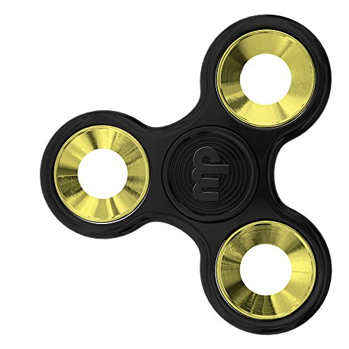 MUPATER Fidget Toys Hand Spinner, Fidget Juguete, Reductor de Estrés para los Niños y Adultos, Nuevo Negro