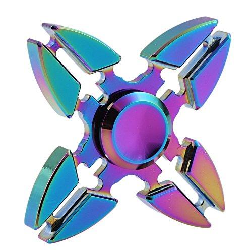 roreikes Fidget Spinner, Tri de Spinner Fidget Toys dedos Spinner juguete con Lisa y giratorio, regalo ideal para Ads, TDAH, miedo y autismo Niños y Adultos, 1#