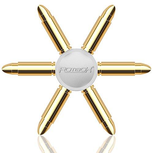 Rotibox EDC Mani Spinner Fidget giocattolo del metallo durevole con liscia ad alta velocità cuscinetto in ceramica Spins per 2-4 mins - Oro