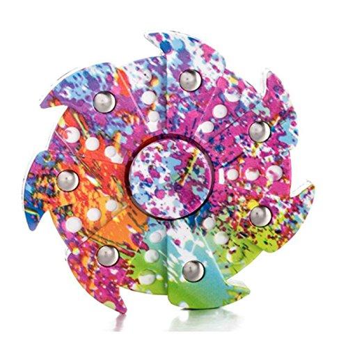 Spinner de la tensión Colorido Camo Fidget Tri mano que gira el juguete Almacenamiento Stuffer para ADHD EDC Focus Alivia la ansiedad y el aburrimiento
