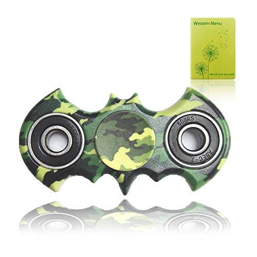Spinner Fidget, Juguete Anti Ansiedad para Niños Jóvenes Adultos (Palo de camuflaje verde)