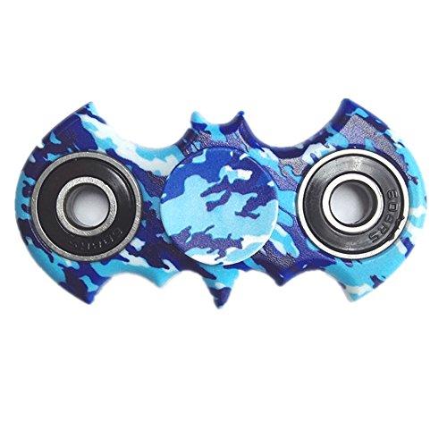Spinner Fidget, Juguete Anti Ansiedad para Niños Jóvenes Adultos (Palo de camuflaje azul)