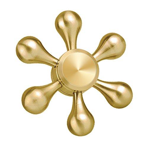 Tri Fidget Hand Spinner Toy, Vitutech Spinner Fidget Toy Tipo Spinner Six Spinner Fidget Juego Sensorial Hand Spinner - ( Dorado )