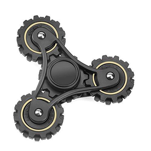 Tri Fidget mano Spinner, alta velocidad Gran rodamientos, Tri-Spin..., negro