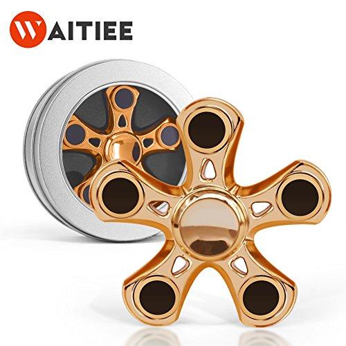 Waitiee Tri Fidget Spinner mano spinner ABS juguete reductor de estrés - Perfecto para ADD, ADHD, ansiedad y autismo Adultos Funny Anti Stress Juguetes (Plateado)