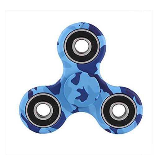 YSBER Fidget mano Spinner camuflaje juguete Ultra resistente Alta Velocidad exquisita mano Spinner(Azul)