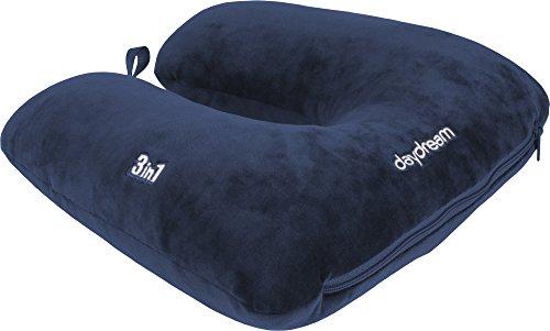 Daydream N-5503 3-in-1 Almohada patentada con microperlas, azul oscuro
