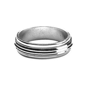 Anillo Alianza giratoria 'antiestrés' hombre 6mm plata maciza 925° ° ° rhodié/talla 60/Neuve/FranceBijoux