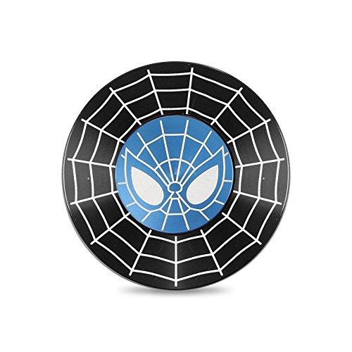 Fidget Finger Spinner Spider de mano Man EDC Stress Tensión Anxiety Relief Toy Cubo Durable Aluminium High Speed 1-3 Min Steel Bearing Finger Playing (Black)