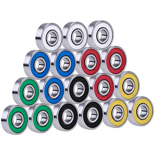 18 Piezas Rodamientos 608 2RS para Juguetes EDC de Mano, Multicolor