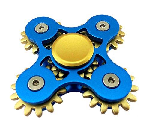 5marchas vinculación Metal Fidget mano Spinner rápida rotación lujo Stress Relief juguete, Azul