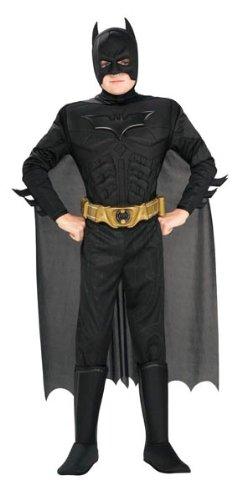 Batman - Disfraz musculoso con accesorios, para niños, talla M, 5-7 años (Rubie's 881290-M)