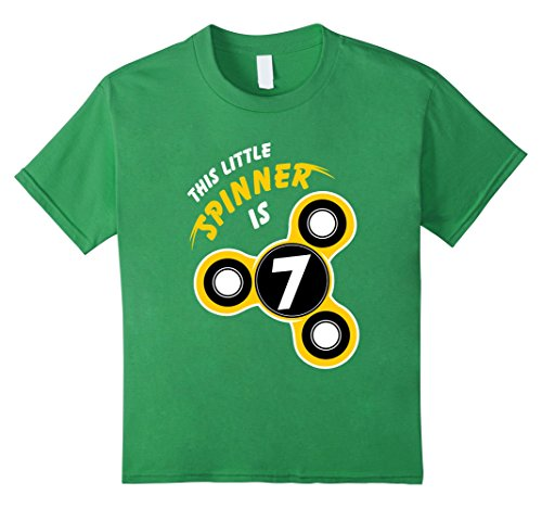 Boys Spinner Birthday Shirts - Camiseta - Niños verde verde