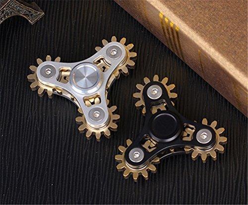 EDC - Spinner, metal resistente, alta velocidad, alivio de estrés rápido para adultos y niños, accesorio de escritorio de oficina, diseño de marchas