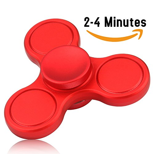 Fidget Spinner de Vivahouse | Juguete Hand Spinner Alivia Estrés y Ansiedad TDAH Autismo TDA Para Más Calma Claridad Atención | Gadget Silencioso de Giros de Aleación Tamaño Bolsillo (Rojo)