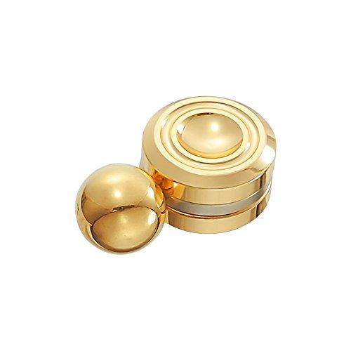 Gemwon Órbita magnética de alta velocidad Fidget Spinner con bola reduce el estrés ADHD ayuda a concentrar la ansiedad de alivio Anti Depresión Juguetes para niños, Adultos (Gold)