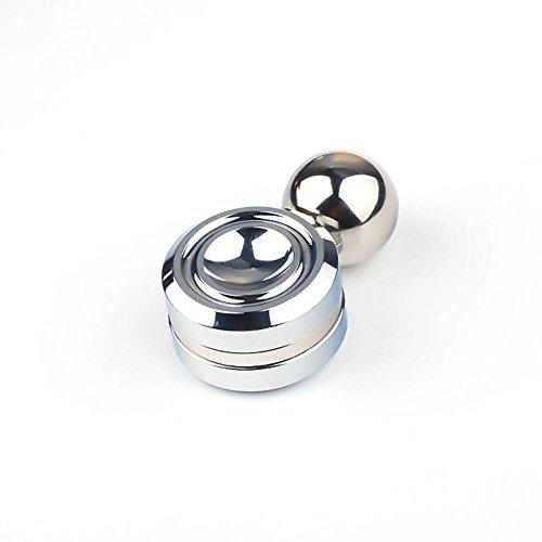 Gemwon Órbita magnética de alta velocidad Fidget Spinner con bola reduce el estrés ADHD ayuda a concentrar la ansiedad de alivio Anti Depresión Juguetes para niños, Adultos (Plata)