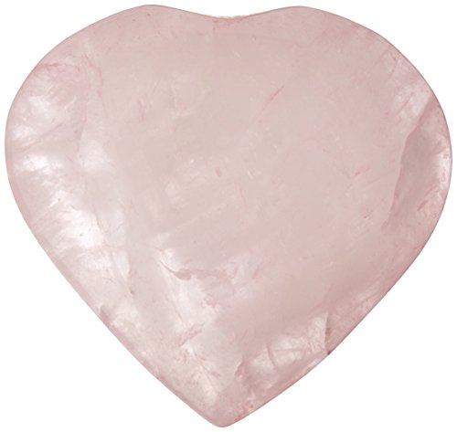 La Chrysalis piedra 30mm Cuarzo Rosa Puff Corazón preocupación de curación piedra