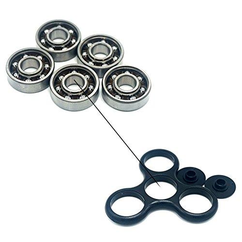 luckcrazy 608Rodamientos de bola de acero para tri-spinner juguete mano Spinner, 5PCS/Set