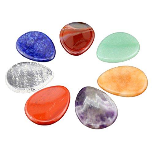 MagiDeal Preocupación Palma Piedra Cristal Semi-acabado Piedras Preciosas Coloreado Masaje Pulgar Piedra