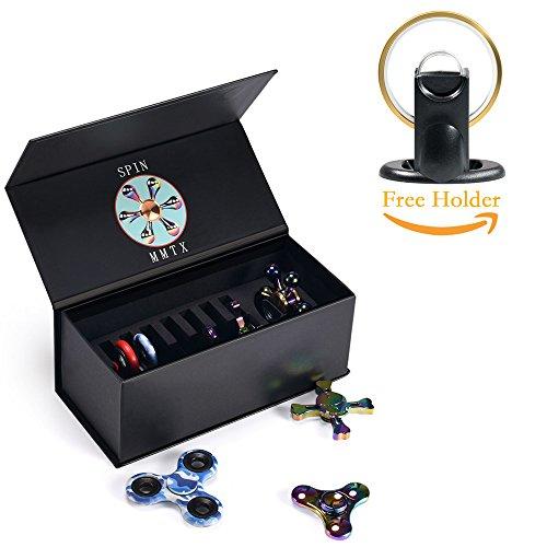 MMTX Fidget Spinner Case Tiene i giocattoli di ansia ADHD Stress Relief Fidgets Giocattoli Custodia compatta con un supporto per filettatura Fidget