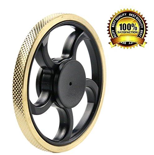 P.LOTOR Spinner Fidget Toy Resistente a la Suciedad EDC Superficie Lisa ADHD Focus Ultra Durable Dedo Gyro Spinner Bearing 3+ Mínimas Vueltas No-3D Impreso, Veins Edge