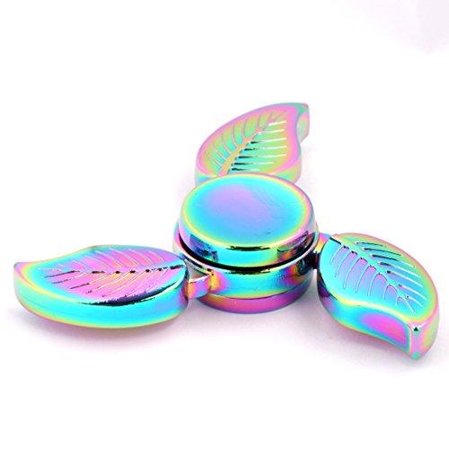 Spinner de mano Fidget Hand Spinner QcoQce K3 Arco iris colorido EDC Tri Fidget Mano Spinning Toy Tiempo asesino Reductor de estrés de alta velocidad Focus Toy Regalos Perfecto para ADD, ADHD, ansiedad, aburrimiento y autismo Adultos Niños