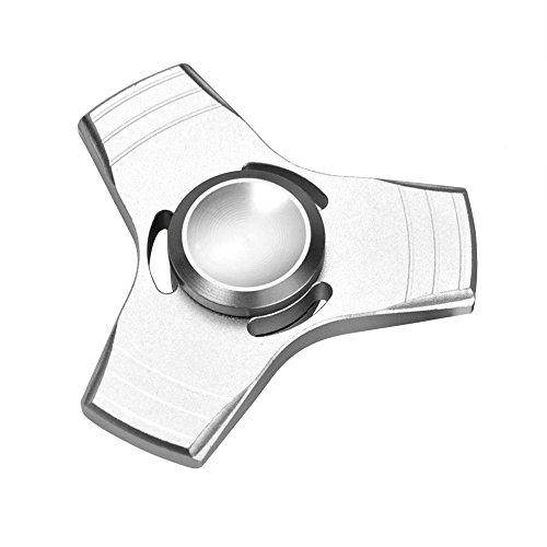 Starcrafter Fidget Spinner Hand Spinner Fidget de Juguete Spinner de Mano Fidget Focus Toy Alta Velocidad por Giros Ultra Duradero con Cuerpo de Aluminio (Plata)